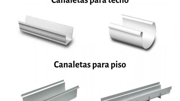 Canaletas para techos y pisos 8