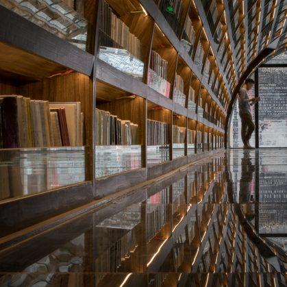 Una ilusión óptica fluye en la librería 10