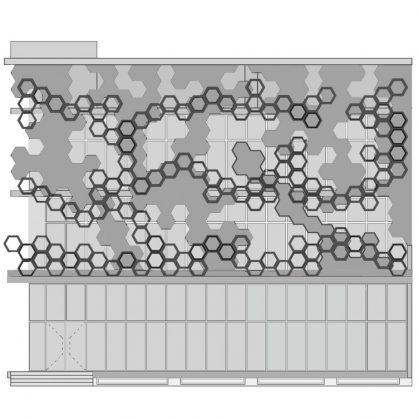 El diseño geométrico de la fachada de Hexalace 3