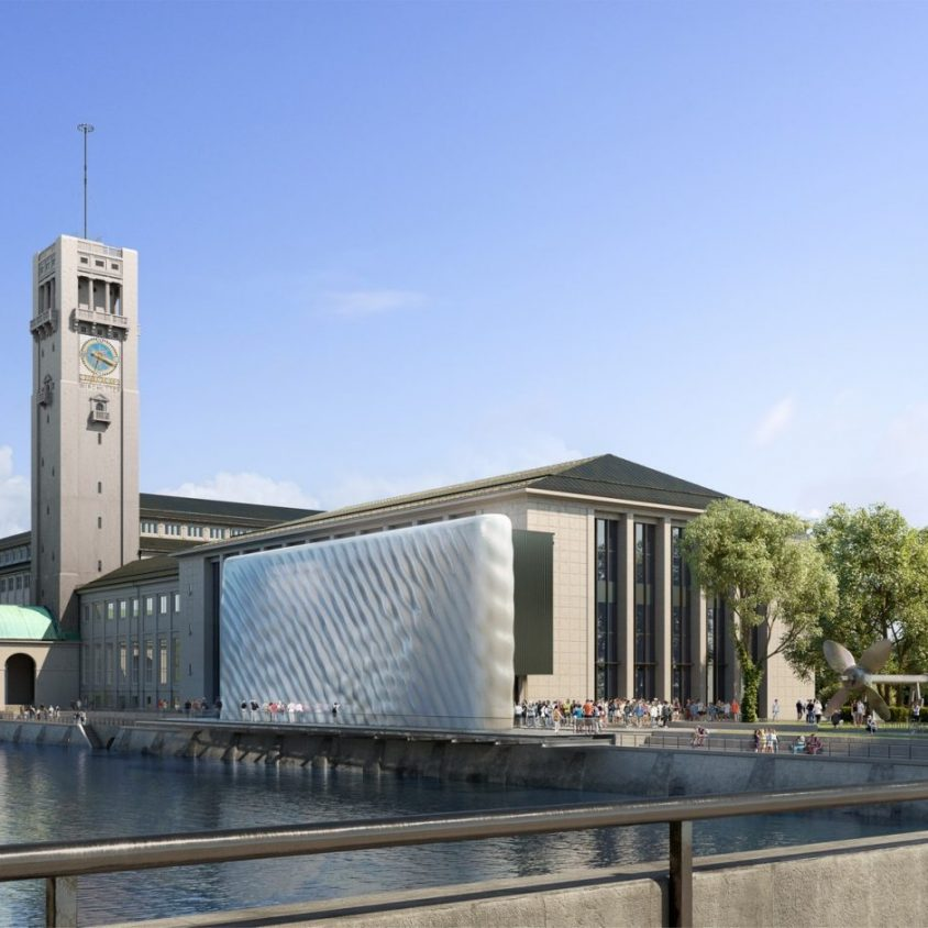 La fachada impresa en 3D para Deutsches Museum 5