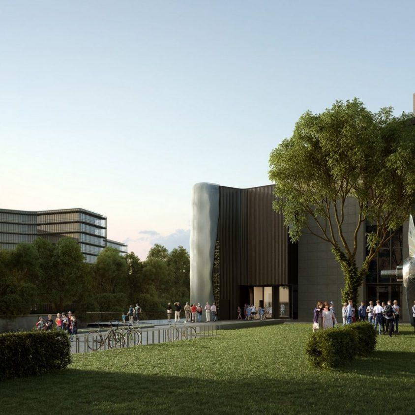 La fachada impresa en 3D para Deutsches Museum 8