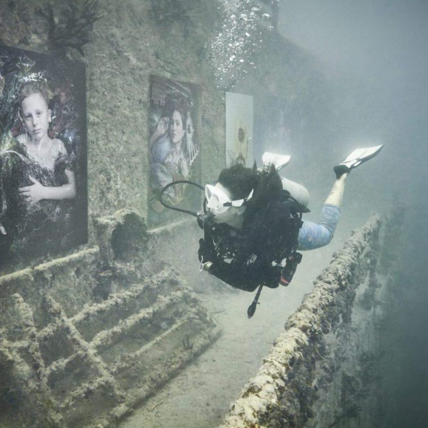 Arte submarino para reflexionar 1