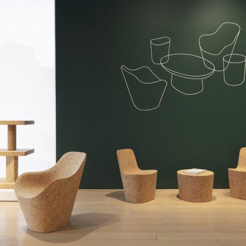 Muebles realizados en corcho 2