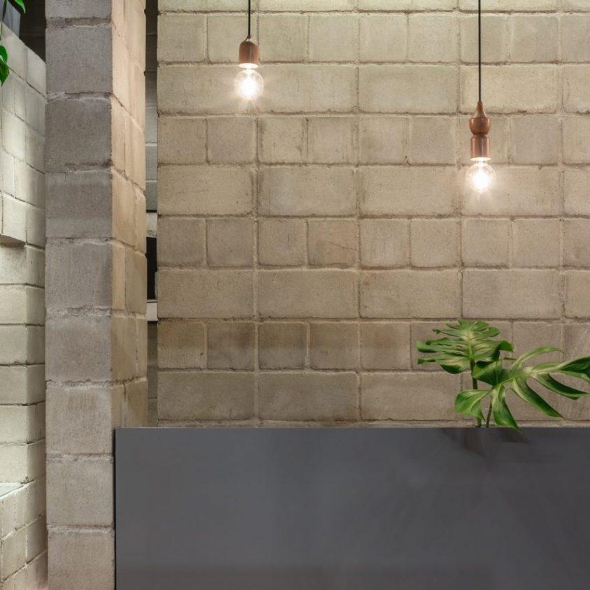Hormigón y vegetación para el diseño de Itsu 7