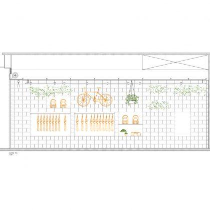 Hormigón y vegetación para el diseño de Itsu 3