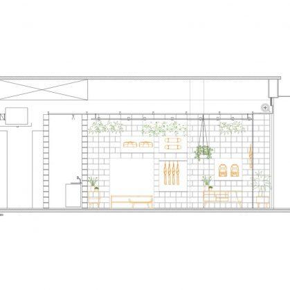 Hormigón y vegetación para el diseño de Itsu 4