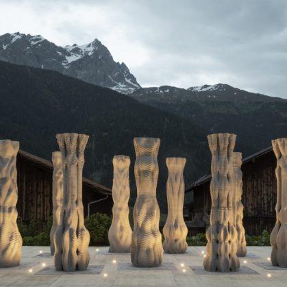"""""""Concrete Choreography"""", la instalación de hormigón en 3D 3"""
