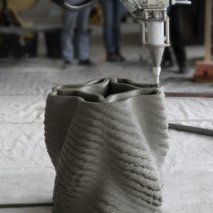 """""""Concrete Choreography"""", la instalación de hormigón en 3D 13"""