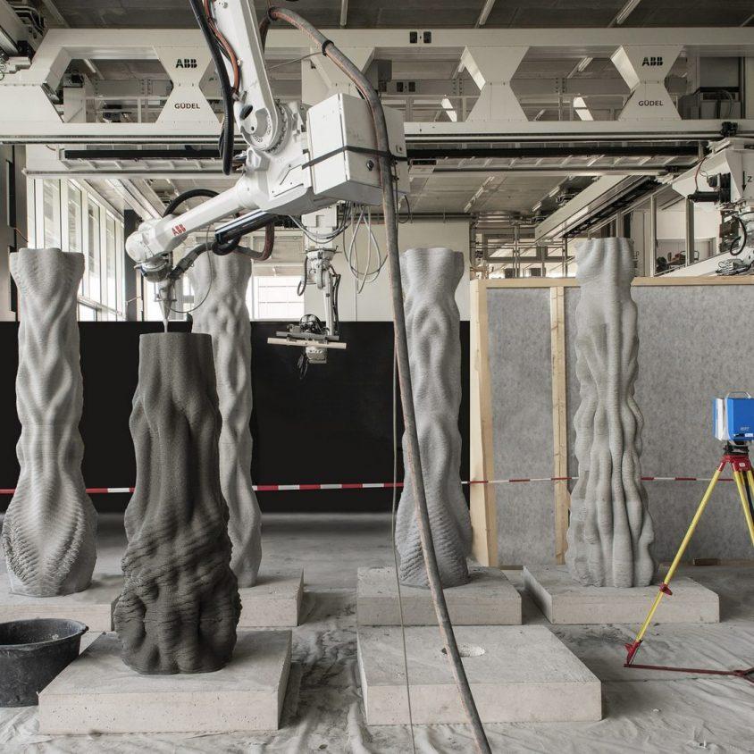 """""""Concrete Choreography"""", la instalación de hormigón en 3D 8"""