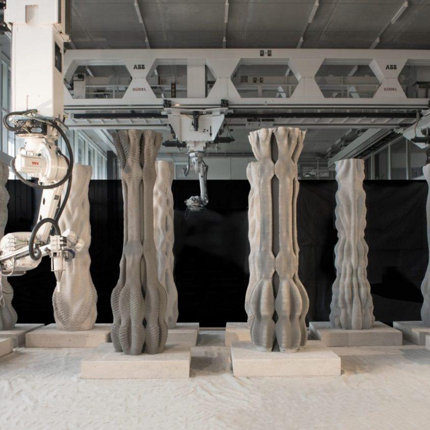 """""""Concrete Choreography"""", la instalación de hormigón en 3D 9"""