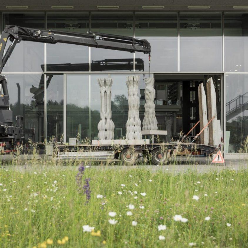 """""""Concrete Choreography"""", la instalación de hormigón en 3D 5"""