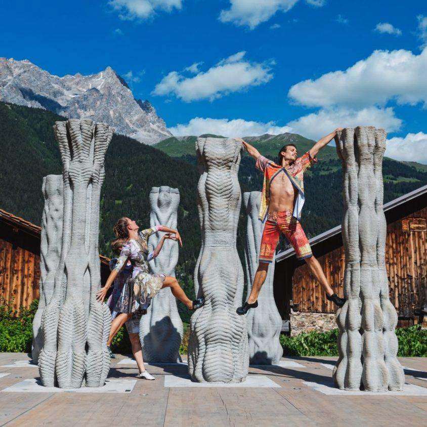 """""""Concrete Choreography"""", la instalación de hormigón en 3D 15"""