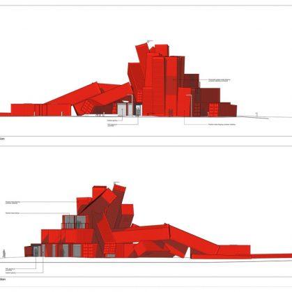 """El edificio de contenedores """"Mach 1"""" 2"""