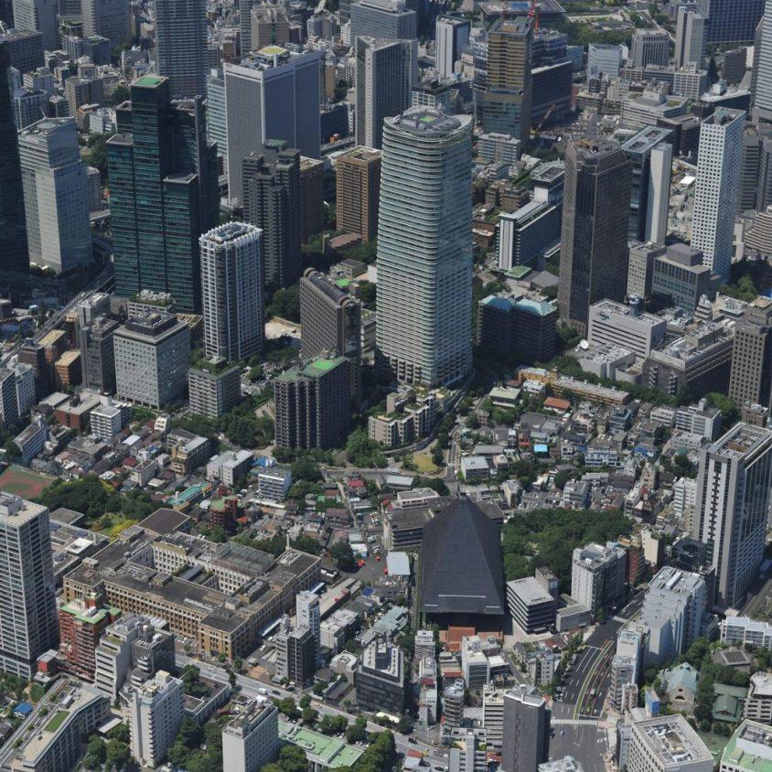 El diseño de una pérgola gigante para Tokio 2