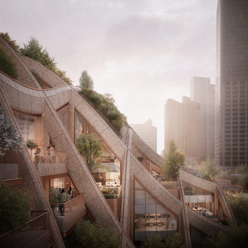 El diseño de una pérgola gigante para Tokio 4