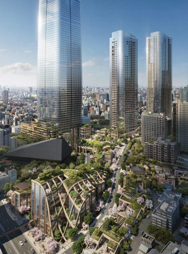 El diseño de una pérgola gigante para Tokio 1