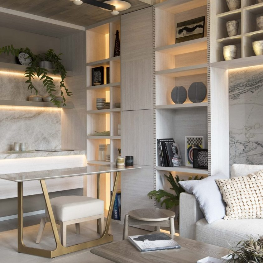 El diseño natural y elegante de un monoambiente 5