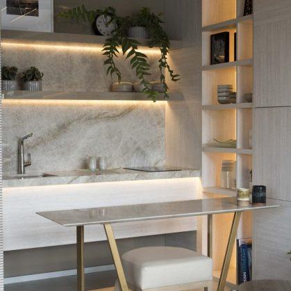 El diseño natural y elegante de un monoambiente 6