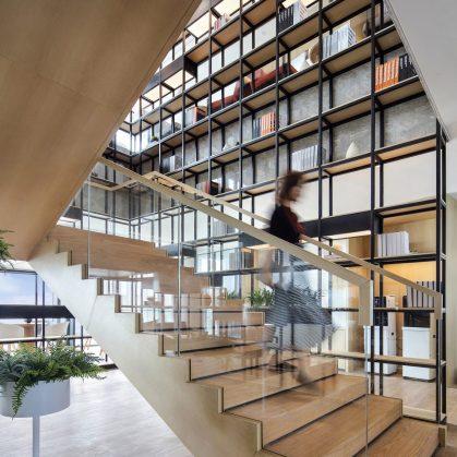 Oficinas con forma de nido que producen tecnología 11