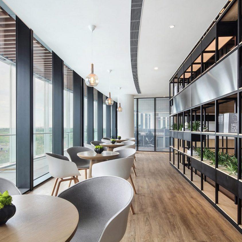 Oficinas con forma de nido que producen tecnología 8