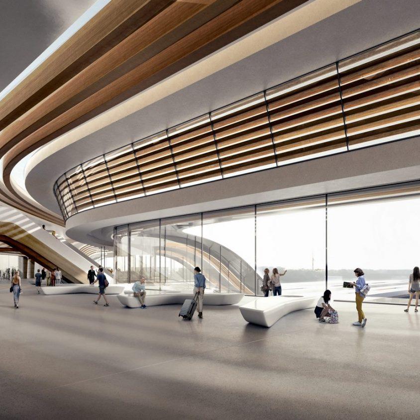 La nueva terminal de trenes de alta velocidad en Europa 7