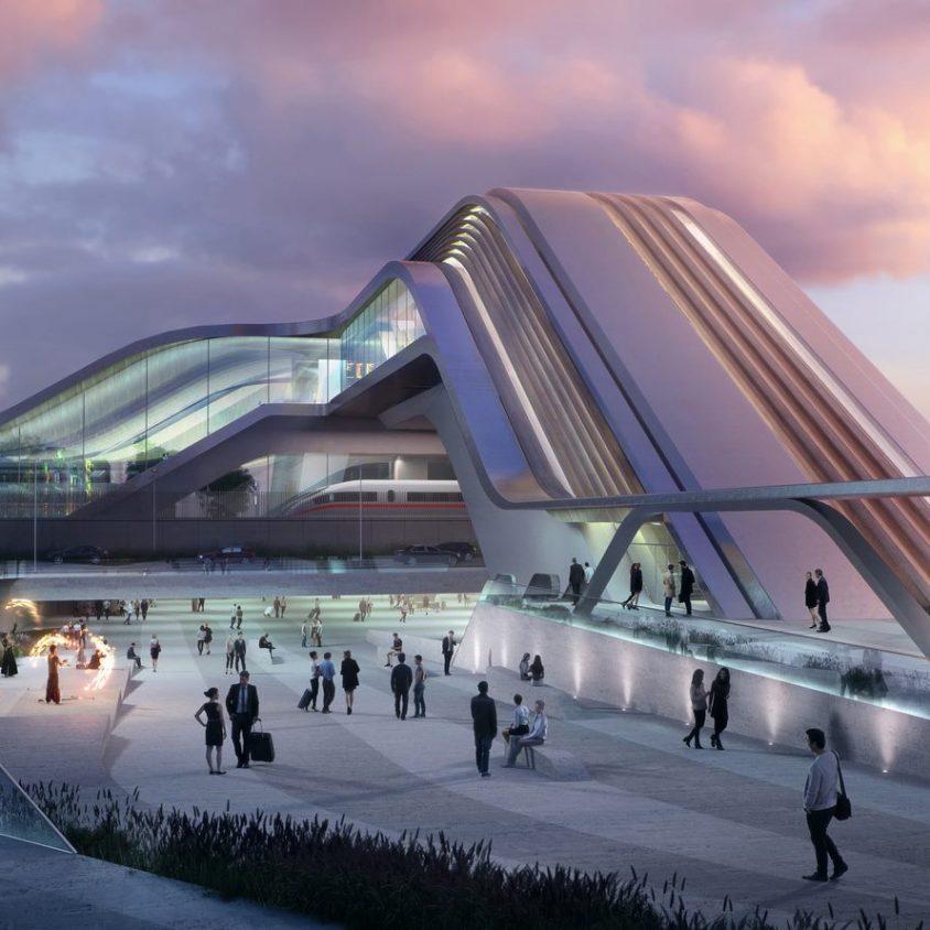 La nueva terminal de trenes de alta velocidad en Europa 4