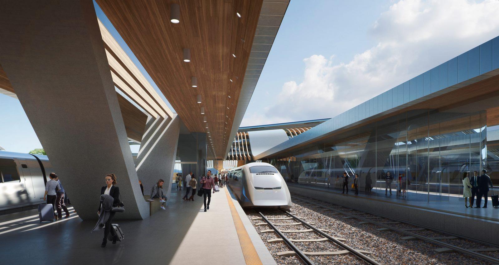 La nueva terminal de trenes de alta velocidad en Europa 8