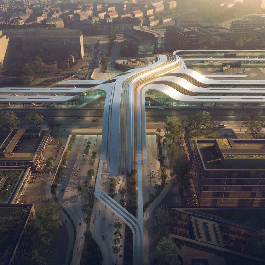 La nueva terminal de trenes de alta velocidad en Europa 3
