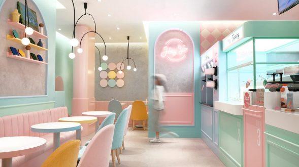Una tienda con colores pasteles inspirados en una receta francesa 14