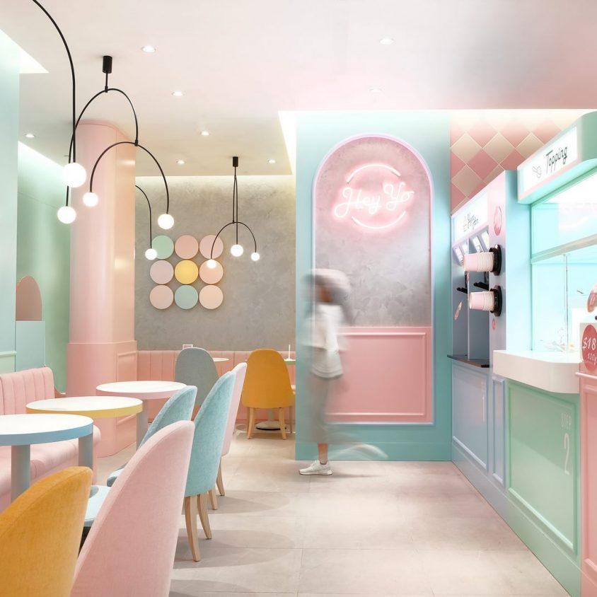 Una tienda con colores pasteles inspirados en una receta francesa 9