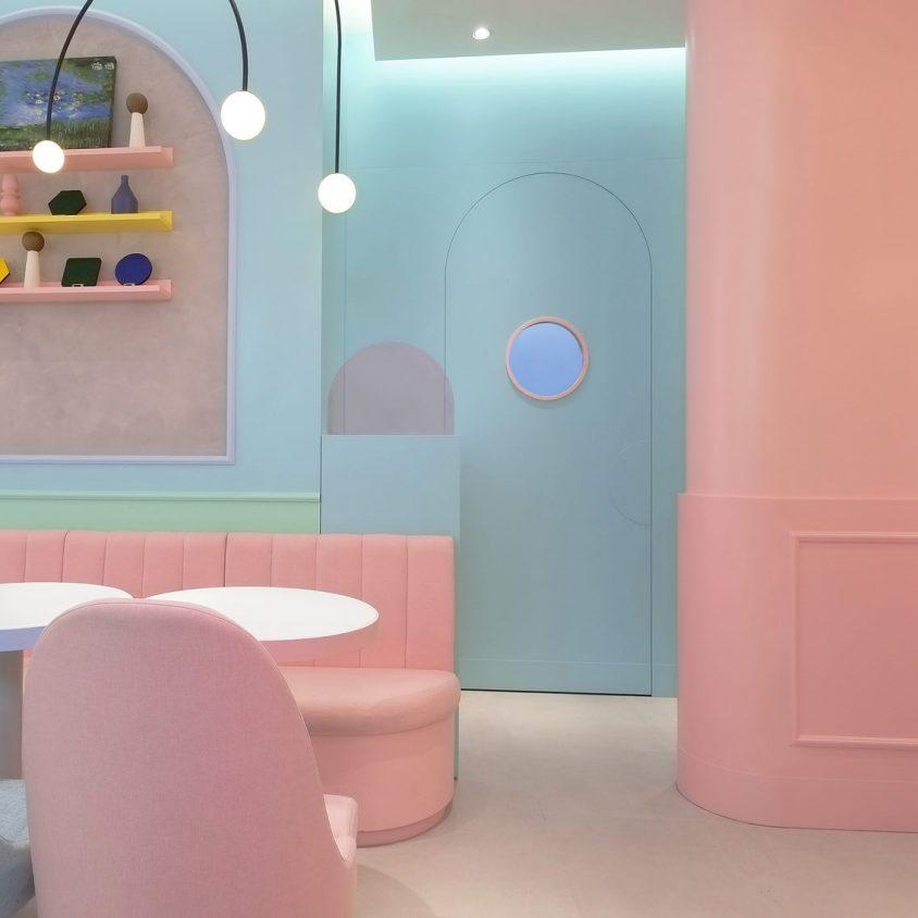 Una tienda con colores pasteles inspirados en una receta francesa 6