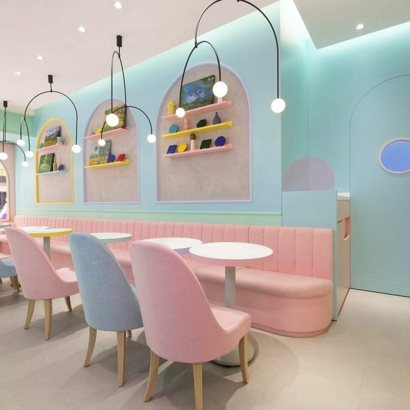 Una tienda con colores pasteles inspirados en una receta francesa 10