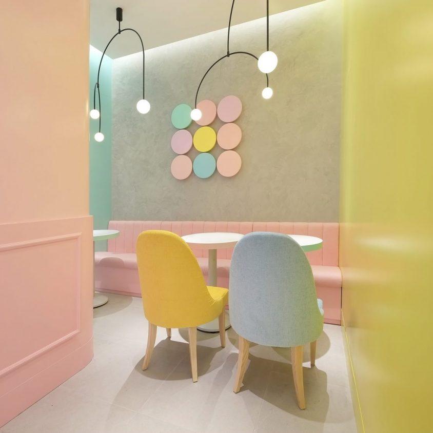 Una tienda con colores pasteles inspirados en una receta francesa 7
