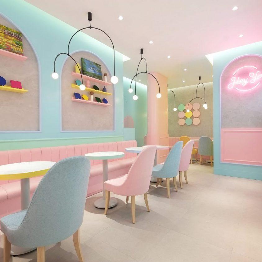 Una tienda con colores pasteles inspirados en una receta francesa 5