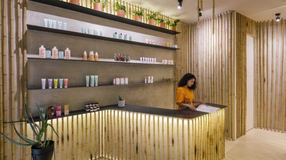 Una piel de bambú para un spa con hammam 19