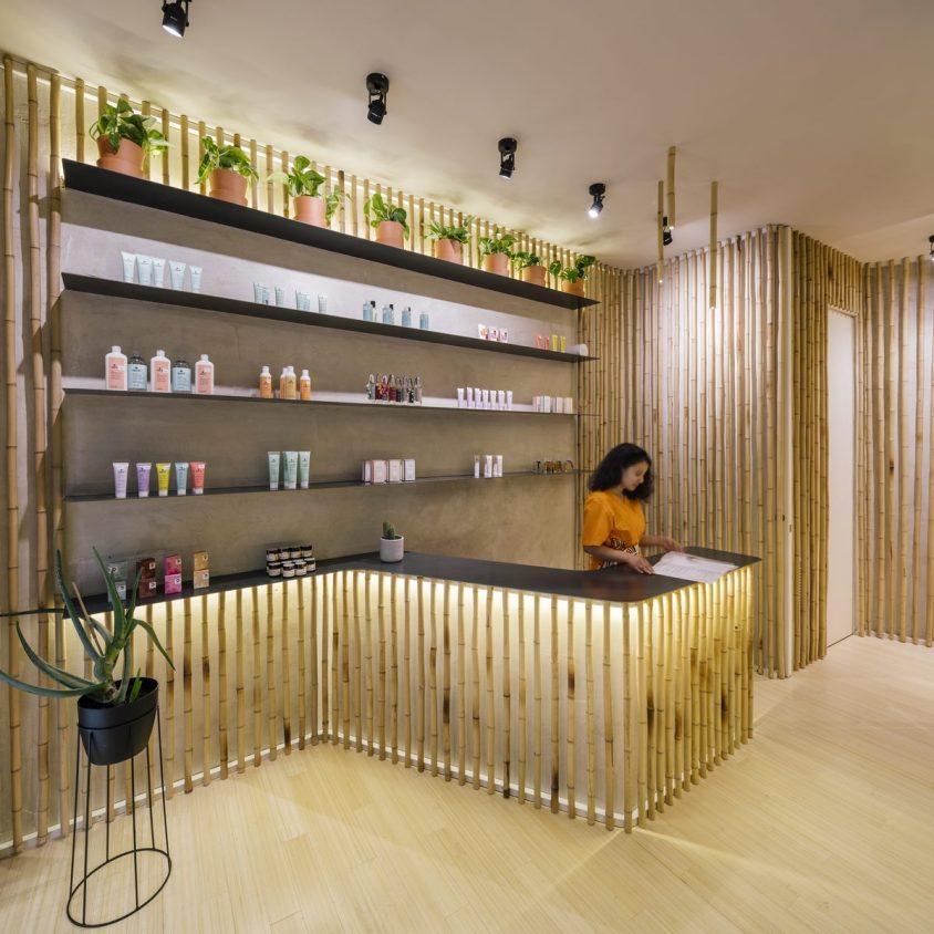 Una piel de bambú para un spa con hammam 3
