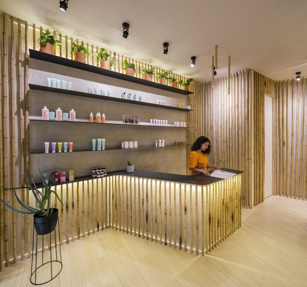 Una piel de bambú para un spa con hammam 21