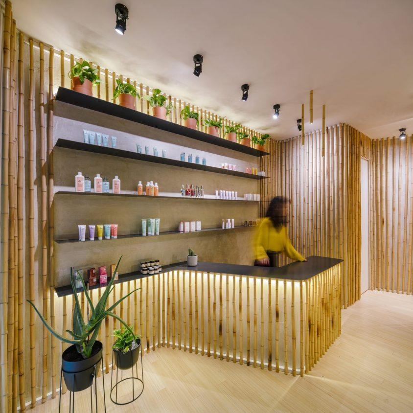 Una piel de bambú para un spa con hammam 9