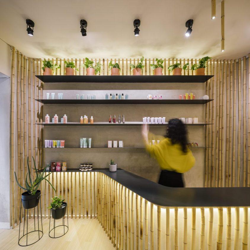 Una piel de bambú para un spa con hammam 5