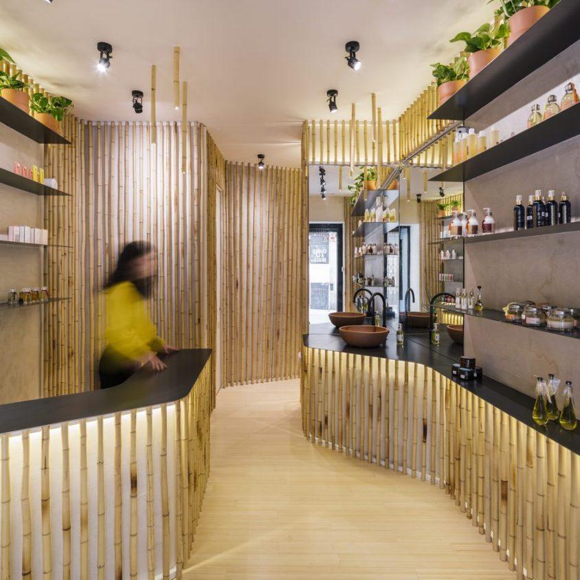 Una piel de bambú para un spa con hammam 8