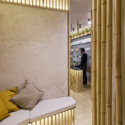 Una piel de bambú para un spa con hammam 14