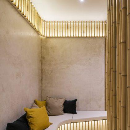 Una piel de bambú para un spa con hammam 18