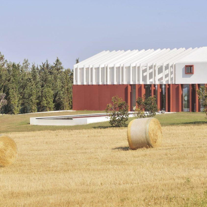 La Casa di Confine, conectada con el paisaje campestre 2