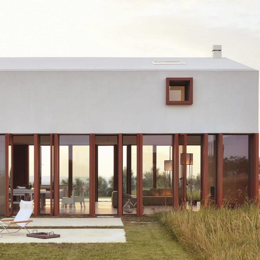 La Casa di Confine, conectada con el paisaje campestre 8