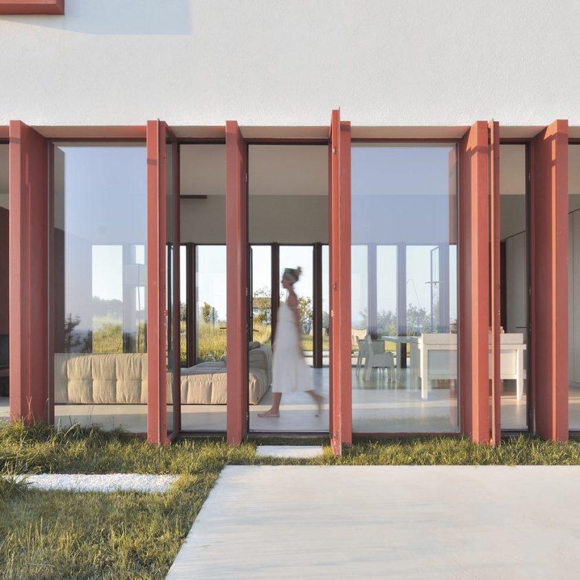 La Casa di Confine, conectada con el paisaje campestre 7