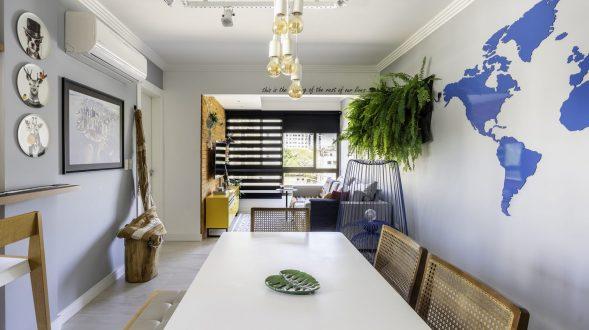 Una casa de playa en un departamento de ciudad por W4 Arquitetura 14