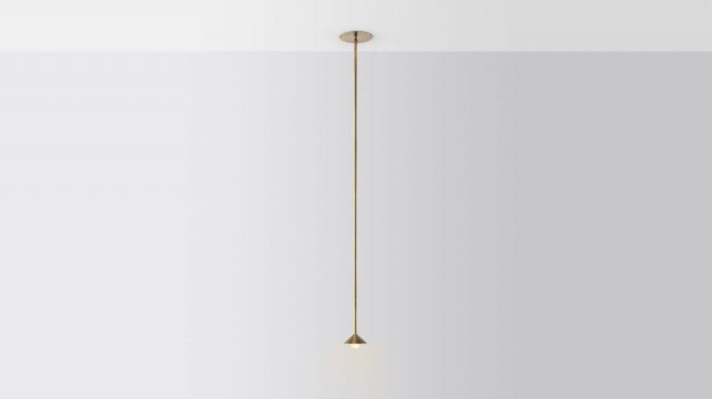 Iluminación con forma piramidal pensada por Volker Haug Studio 4