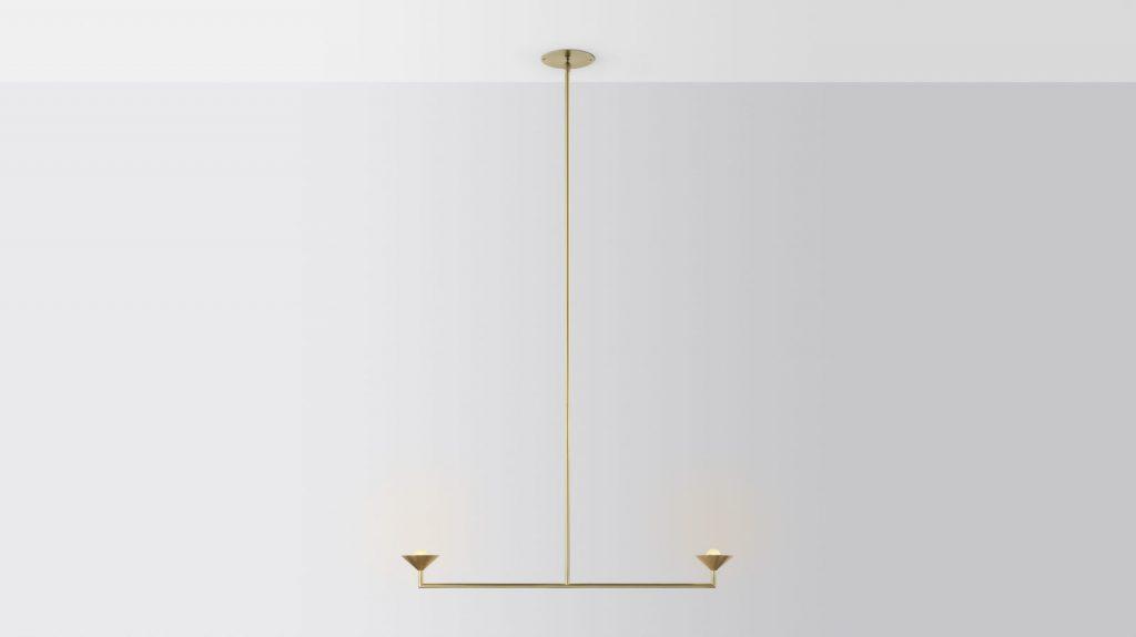 Iluminación con forma piramidal pensada por Volker Haug Studio 2