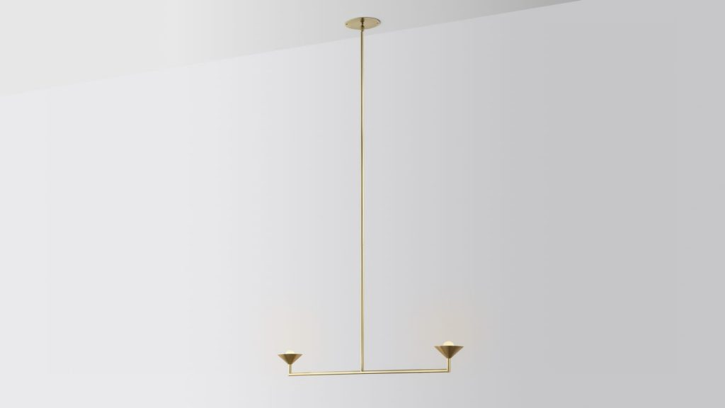 Iluminación con forma piramidal pensada por Volker Haug Studio 6