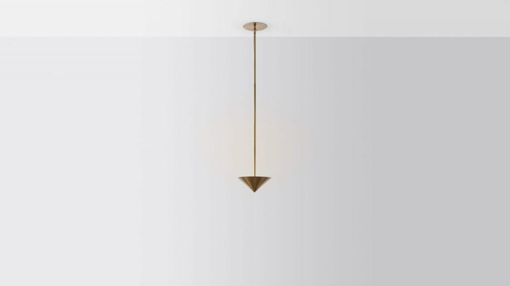 Iluminación con forma piramidal pensada por Volker Haug Studio 10